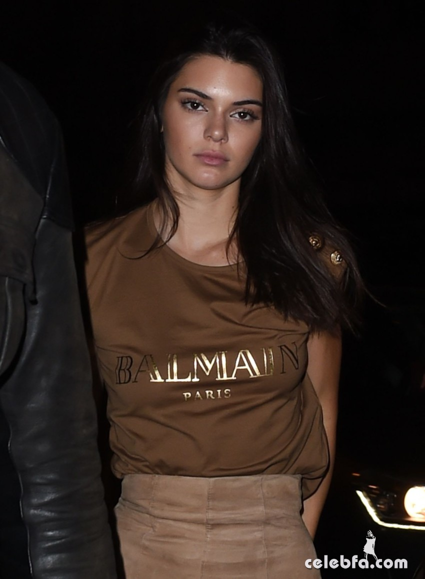 kendall-jenner-at-balmain-fashion-show-after-party-in-paris (6)