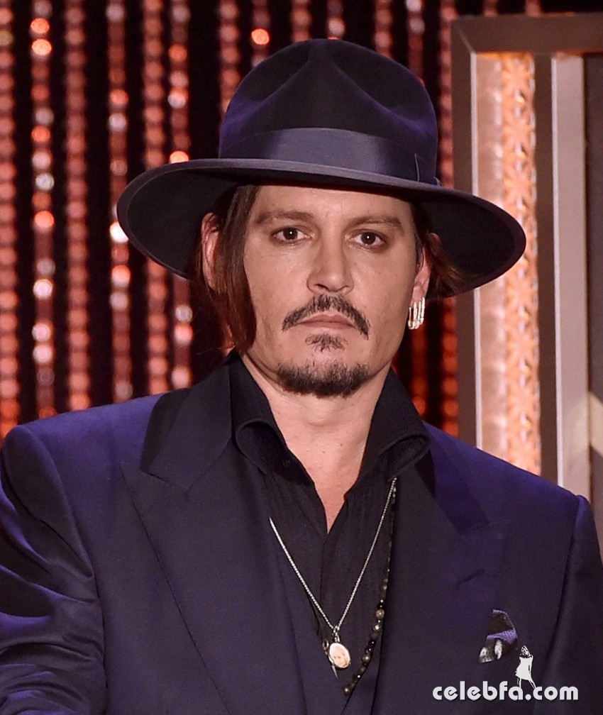 BEVERLY HILLS, CA - NOVEMBER 01:  Actor Johnny Depp speaks onstage during the 19th Annual Hollywood Film Awards at The Beverly Hilton Hotel on November 1, 2015 in Beverly Hills, California.  (Photo by Kevin Winter/Getty Images)
