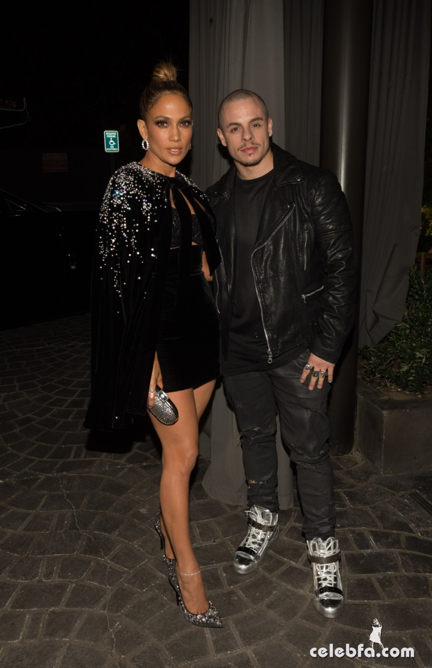 LOS ANGELES, CA - NOVEMBER 22:  Actress/recording artist Jennifer Lopez (L) and Casper Smart attend Jennifer Lopez's 2015 American Music Awards After Party on November 22, 2015 in Los Angeles, California.  (Photo by Christopher Polk/Getty Images for ABA)