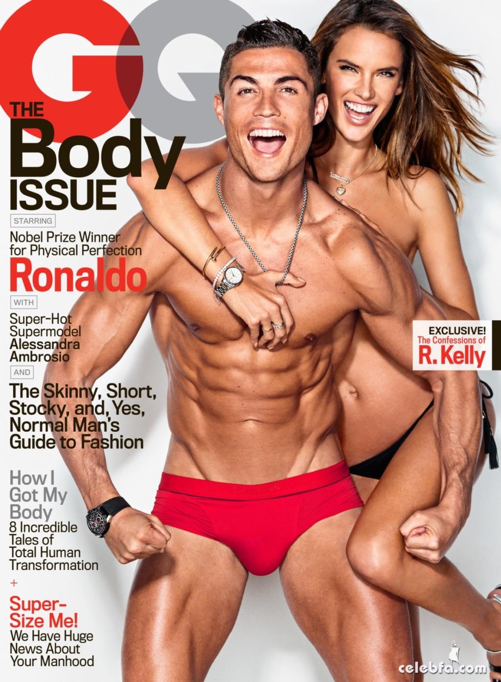 Cristiano Ronaldo & Alessandra Ambrosio - GQ (1)