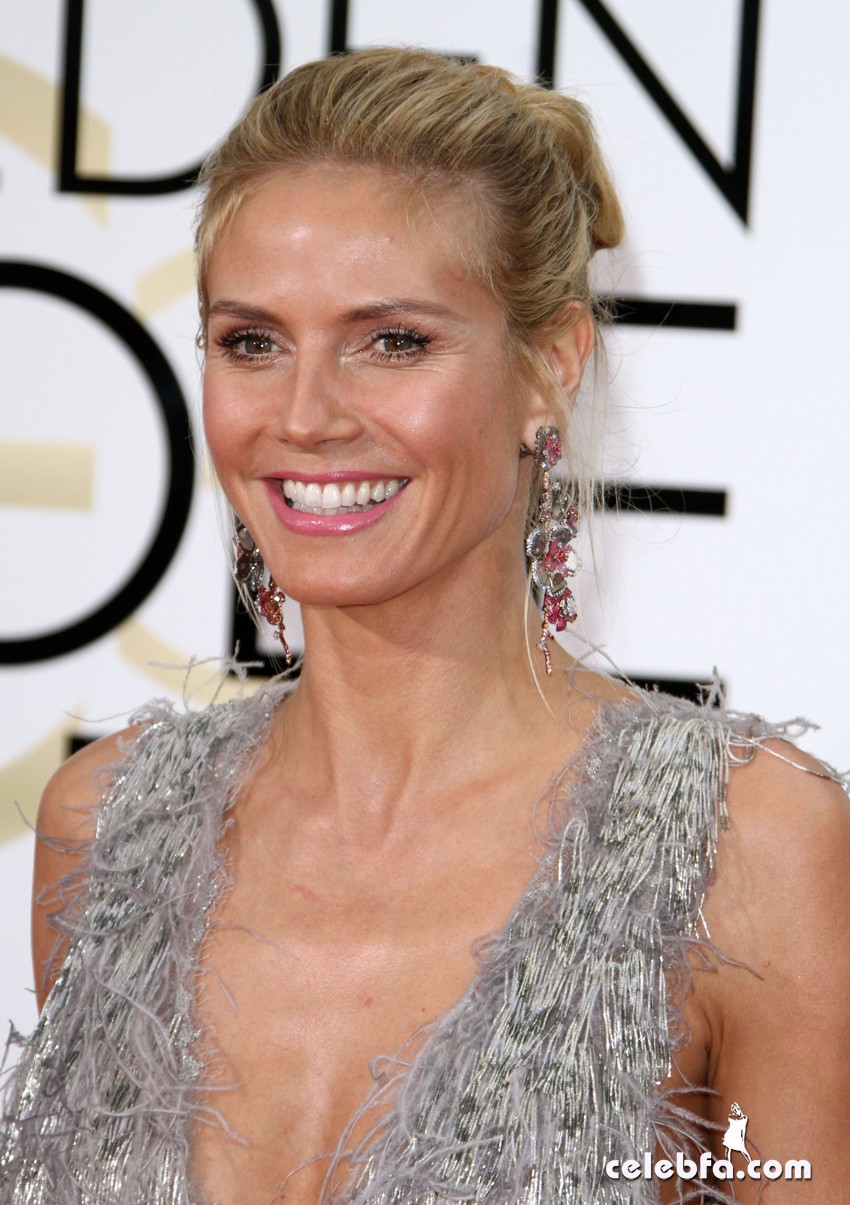 Heidi KLum attends 73rd Annual Golden Globe Awards (1)