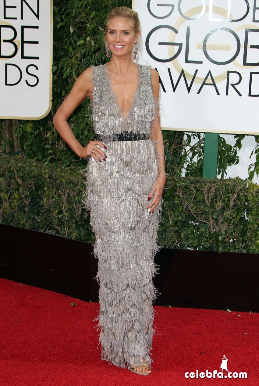 Heidi KLum attends 73rd Annual Golden Globe Awards (3)