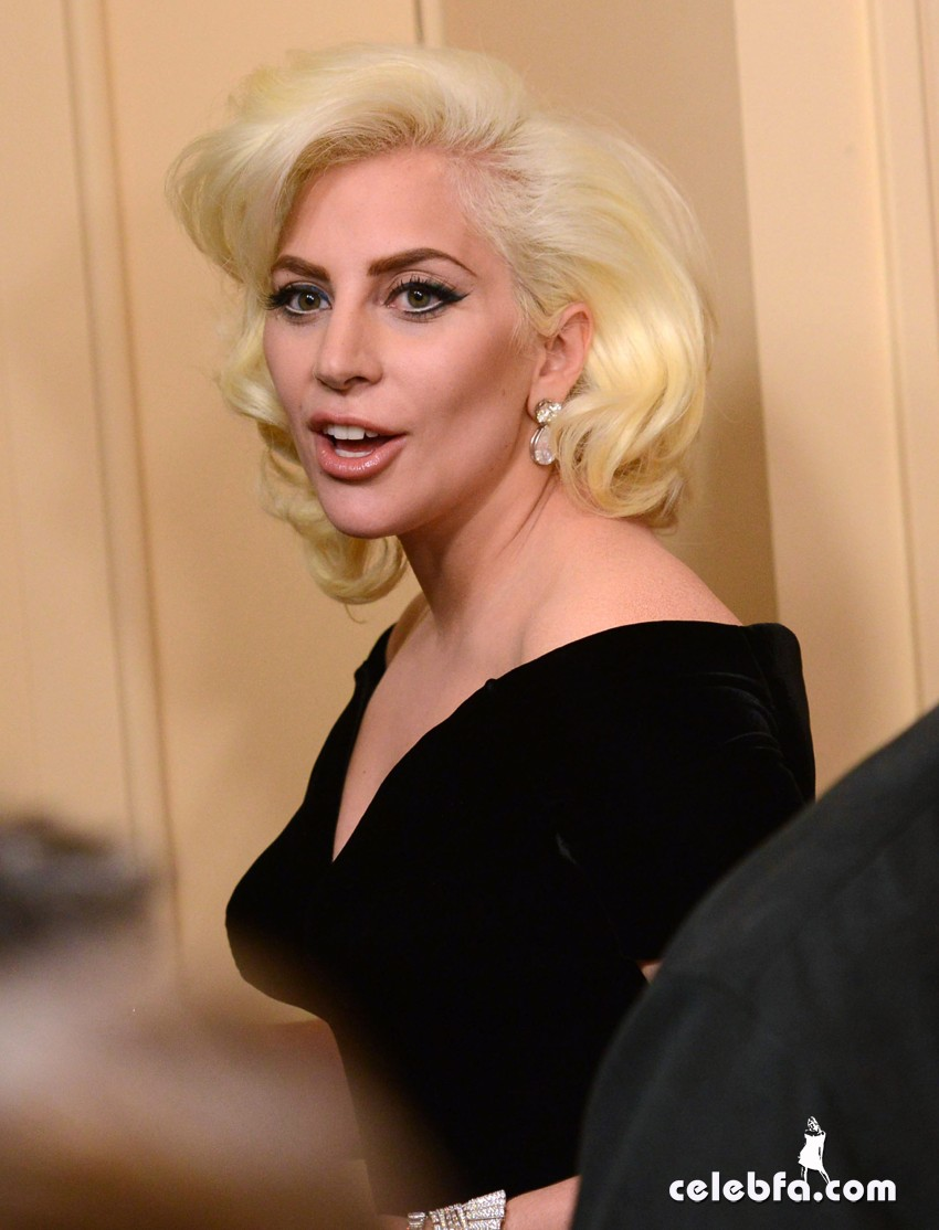 Lady Gaga attends 73rd Annual Golden Globe Awards (5)