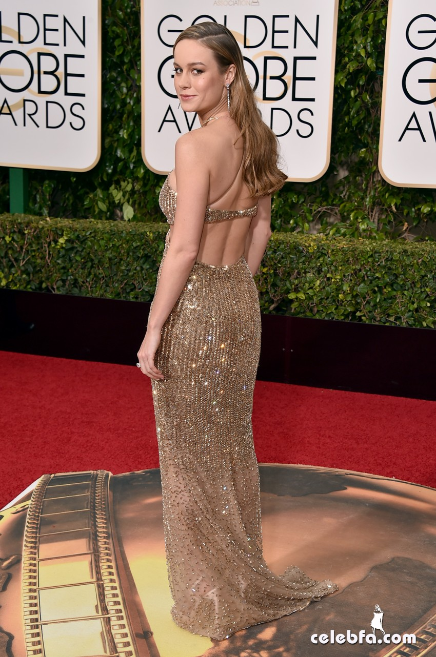 Brie Larson arrives at the 73rd annual Golden Globe Awards on Sunday, Jan. 10, 2016, at the Beverly Hilton Hotel in Beverly Hills, Calif. (Photo by Jordan Strauss/Invision/AP)