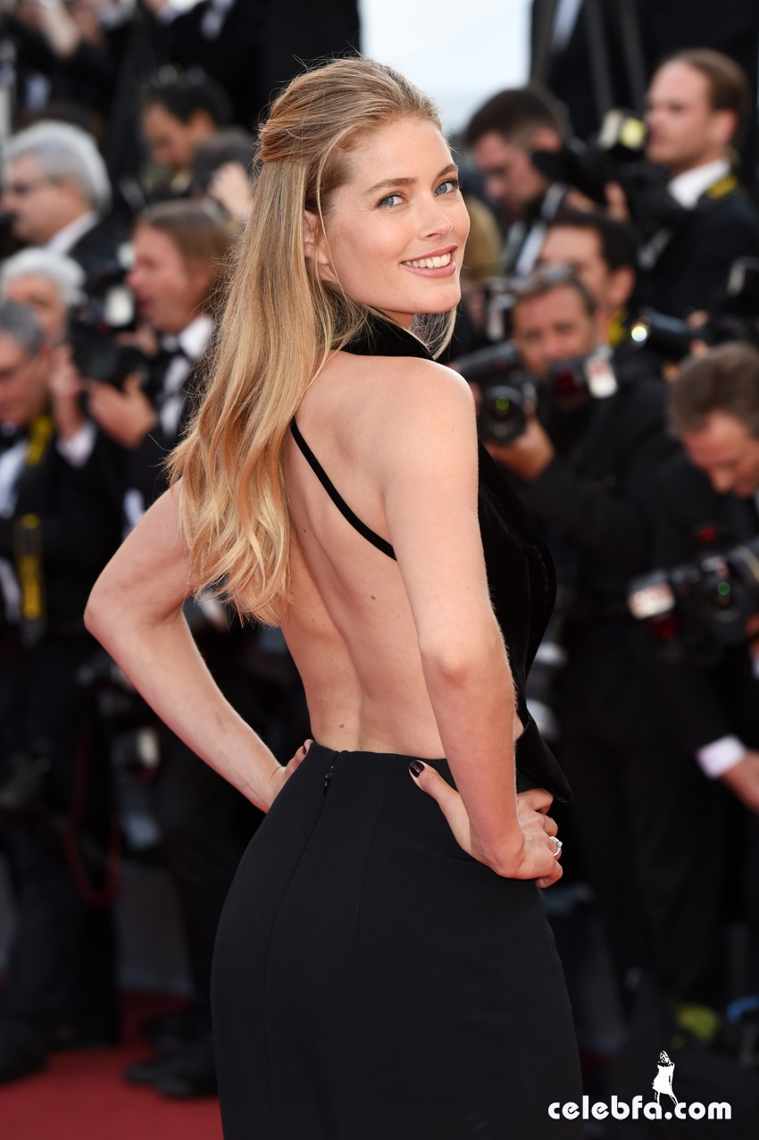 Mandatory Credit: Photo by David Fisher/REX/Shutterstock (5682155aa) Doutzen Kroes 'Cafe Society' premiere and opening ceremony, 69th Cannes Film Festival, France - 11 May 2016