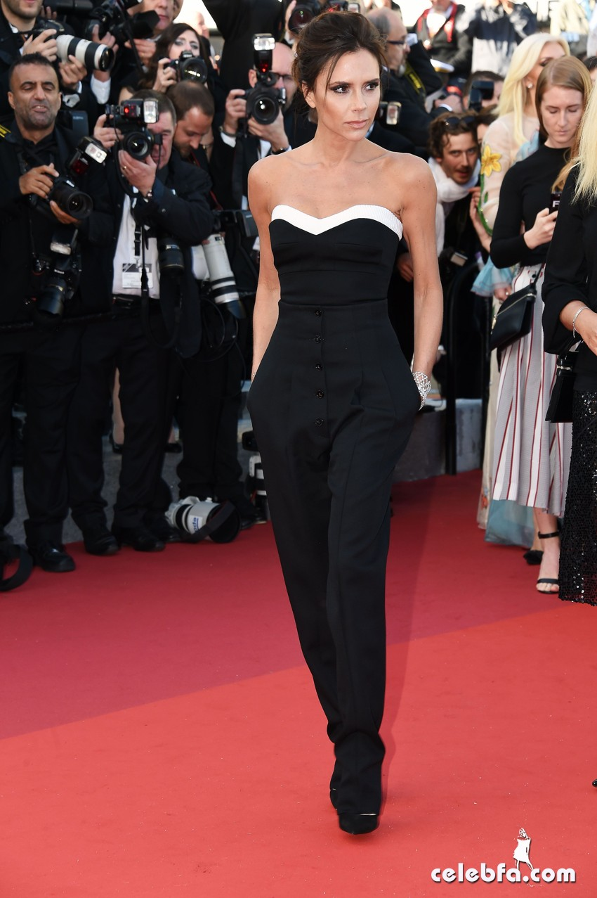 11 May 2016. Victoria Beckham attends the Opening Ceremony Red Carpet and Premiere during the 69th Annual Cannes Film Festival at the Palais des Festivals on May 11, 2016 in Cannes, France. Credit: GoffPhotos.com   Ref: KGC-322/45781 **UK, China Sales Only**