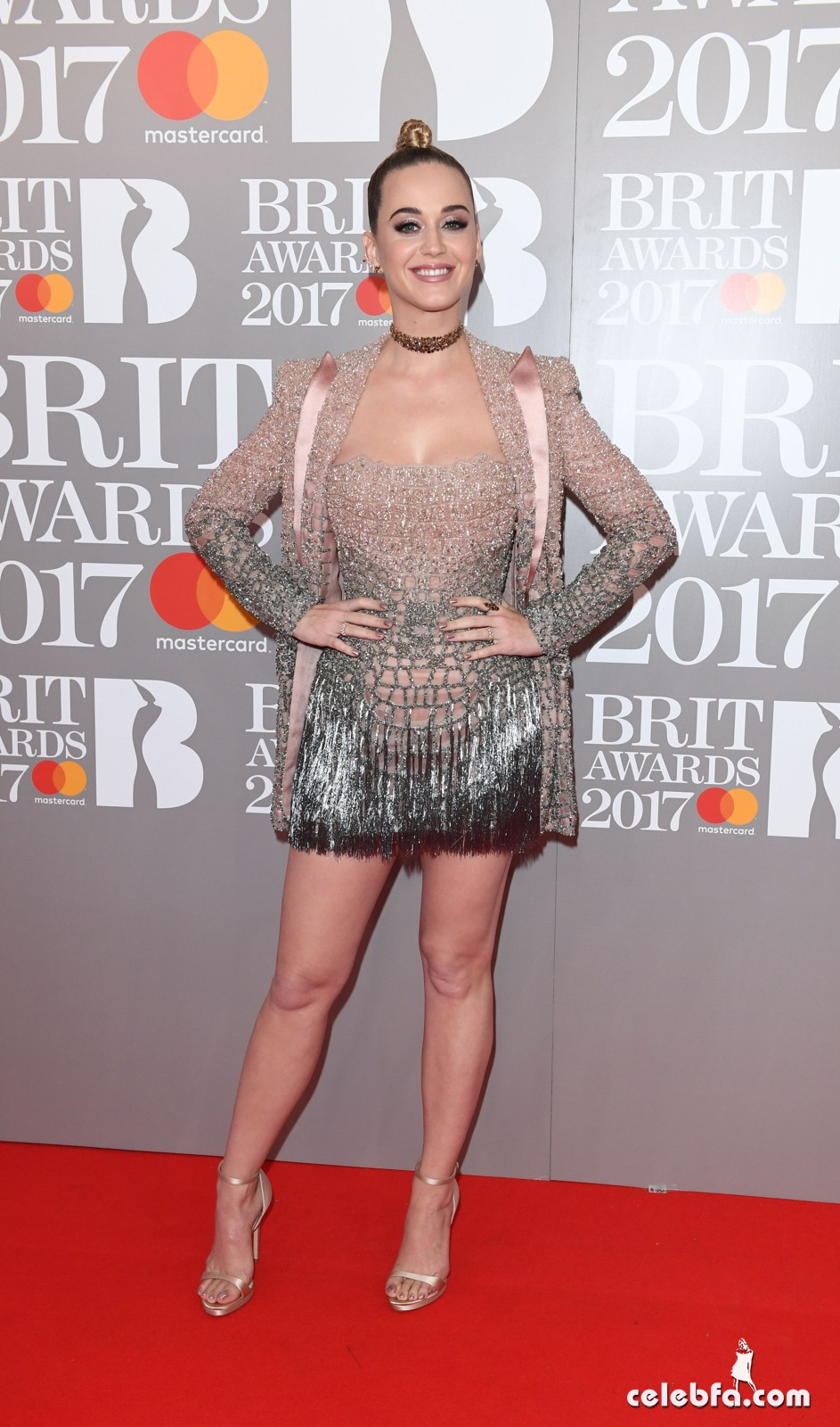 Brit Awards 2017 arrivals held at the 02 Arena in London