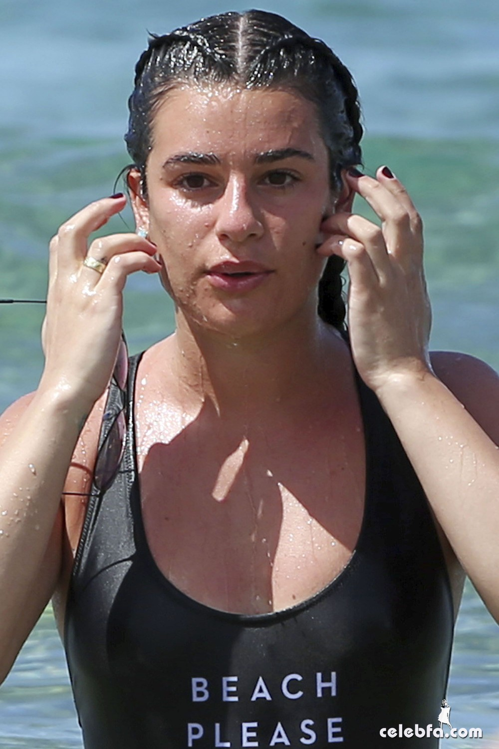 lea-michele-at-a-beach-in-hawaii-5