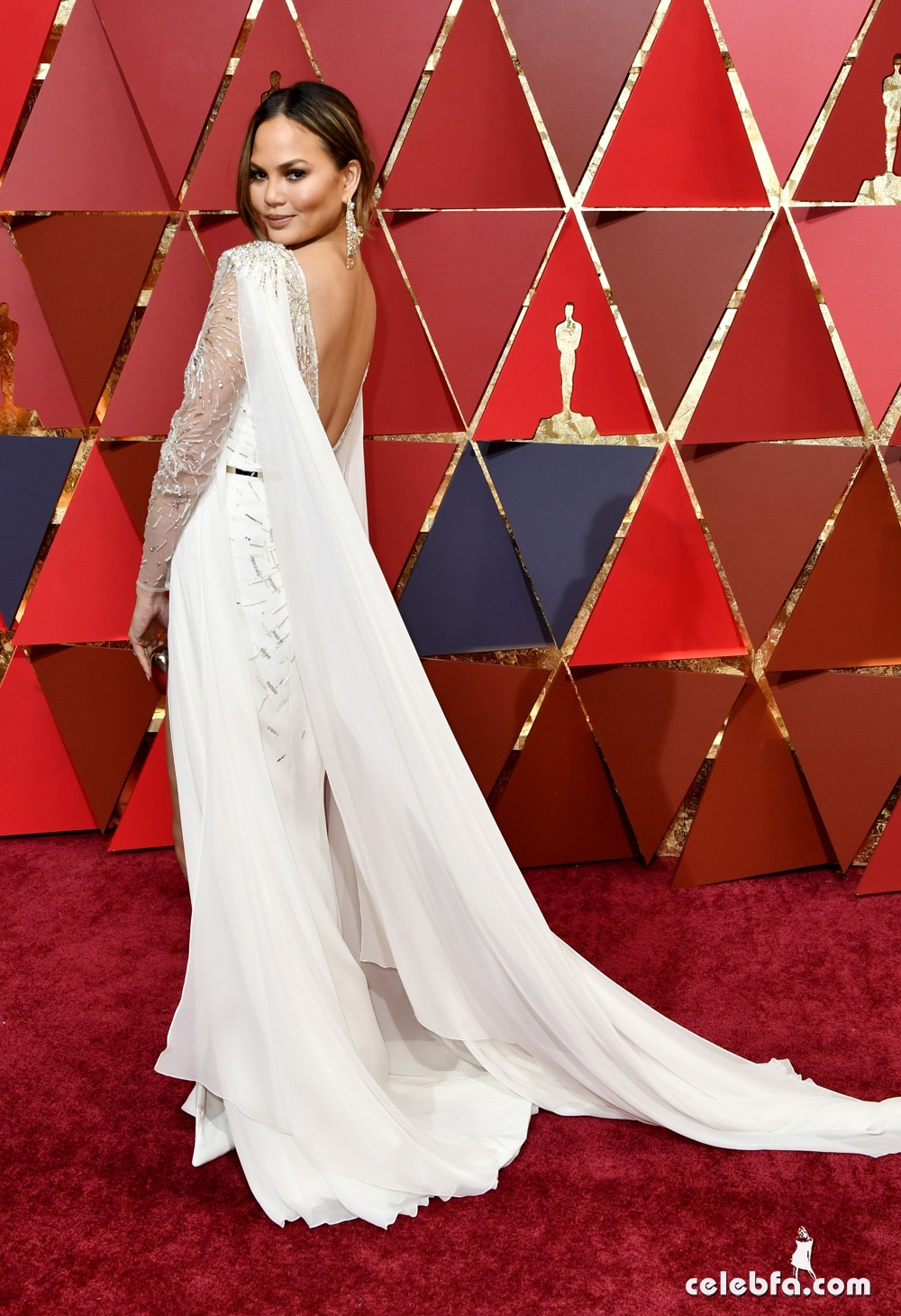 Mandatory Credit: Photo by Rob Latour/REX/Shutterstock (8434882cj) Chrissy Teigen 89th Annual Academy Awards, Arrivals, Los Angeles, USA - 26 Feb 2017